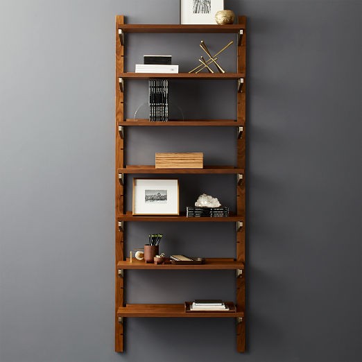 Walnut Modular Single Shelf 88""