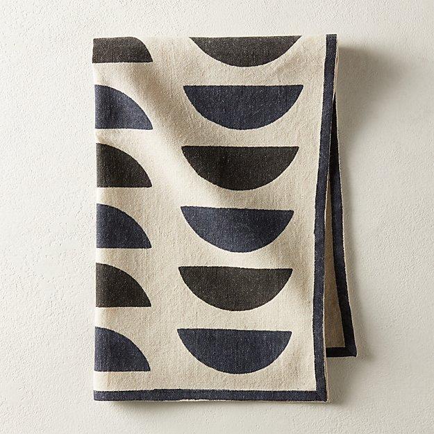 Waning Block Print Tea Towel - Image 1 of 3