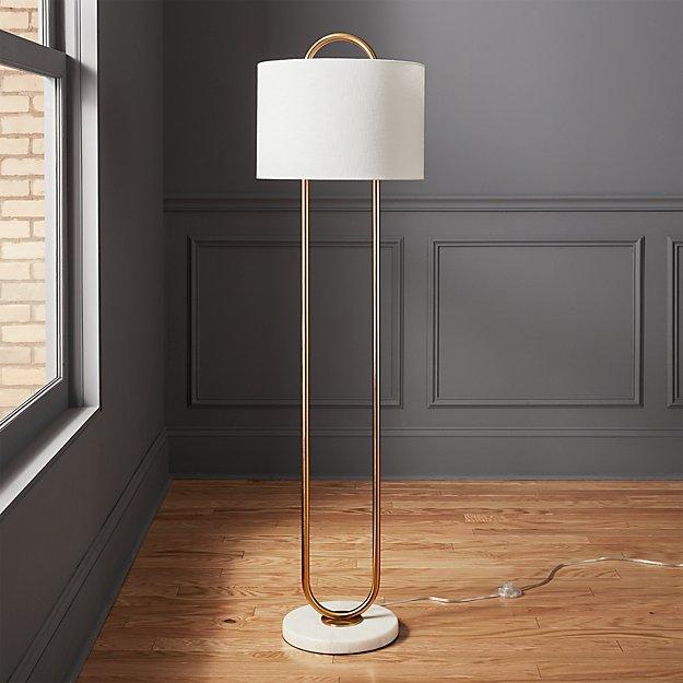 Warner Marble Base Floor Lamp - Image 1 of 9