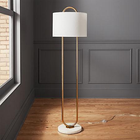 Warner Marble Base Floor Lamp