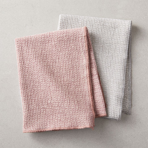 Washed Weave Dishtowels Set of 2