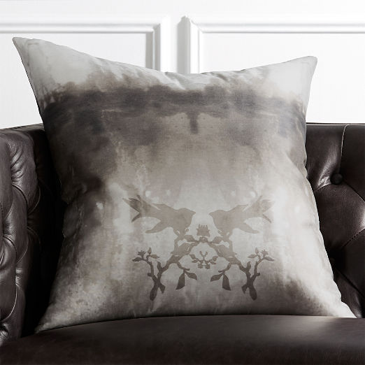 "23"" Watercolor Silk Pillow"