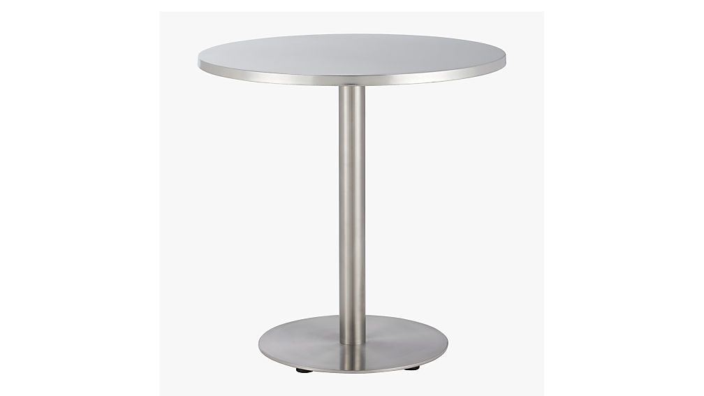 Watermark Stainless Steel Bistro Table + Reviews | CB2
