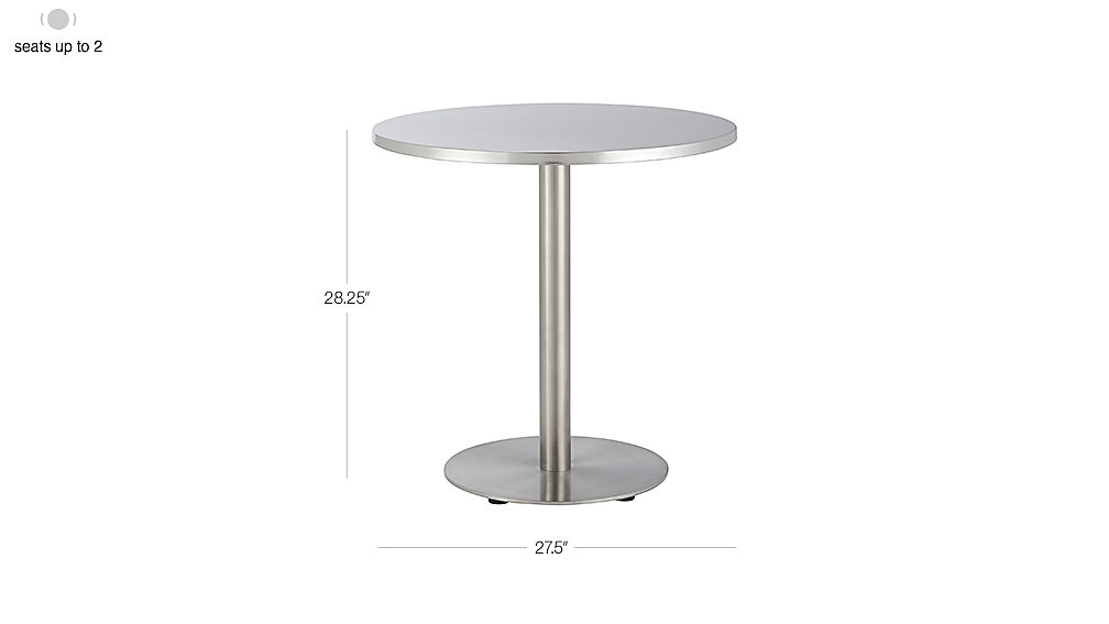 Image with dimension for Watermark Bistro Table