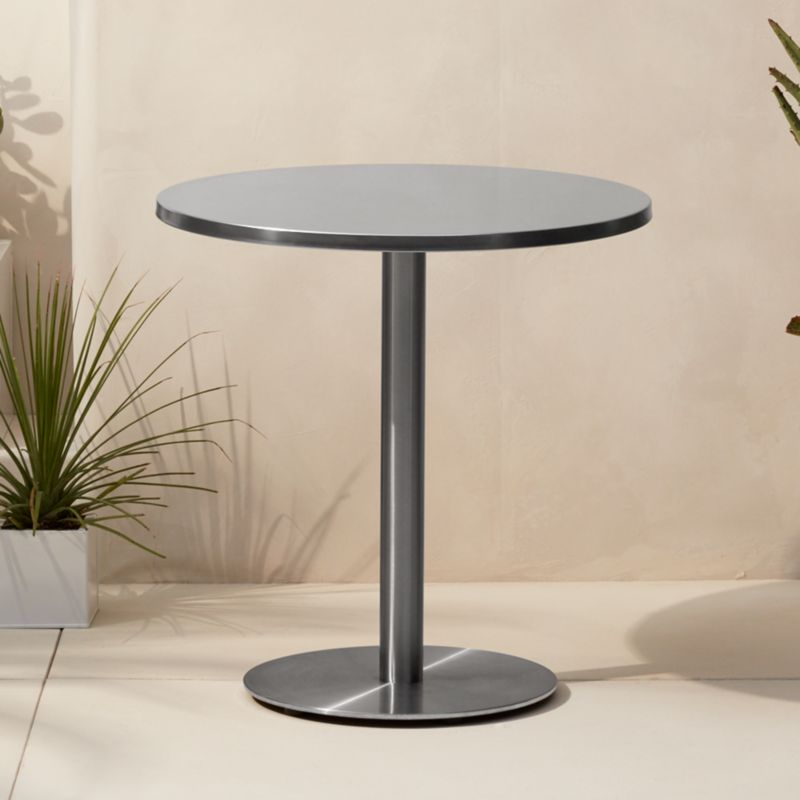 - Watermark Brass Bistro Table + Reviews CB2