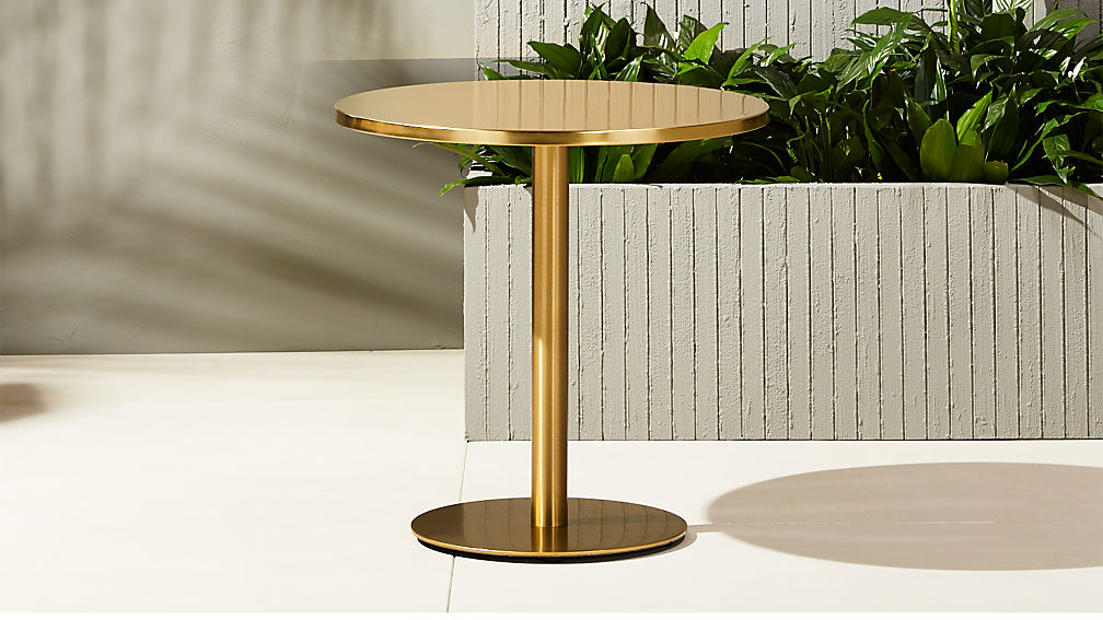 Watermark Brass Bistro Table Reviews Cb2