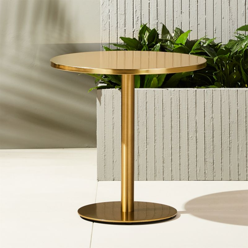 Kid Cafe Furniture: Watermark Brass Bistro Table + Reviews