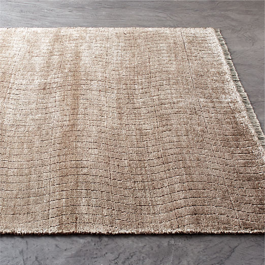 Wave Rust Hand-knotted Rug
