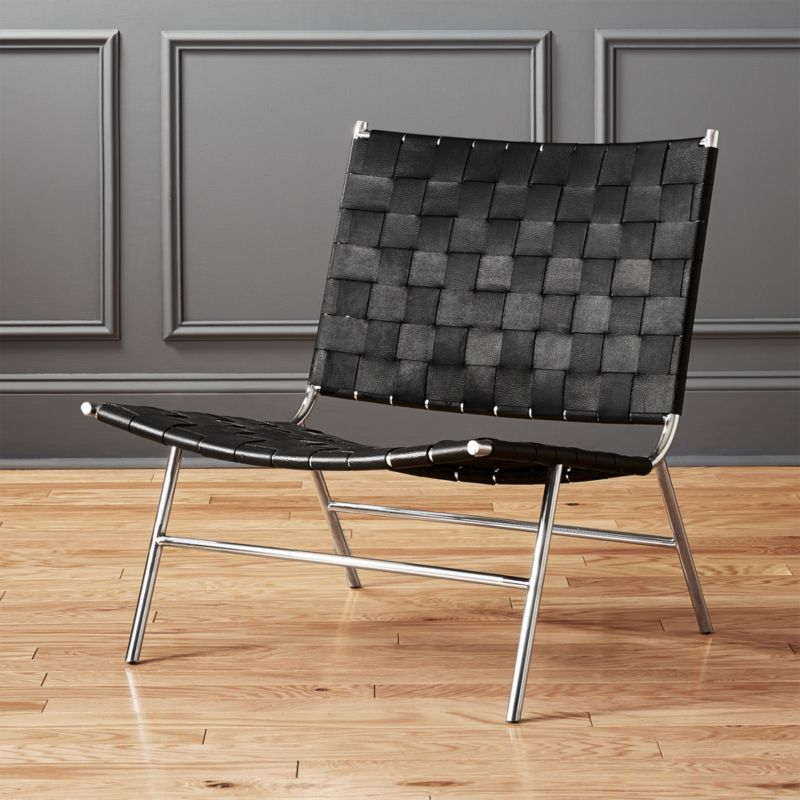 Modern Leather Lounge Chairs | CB2