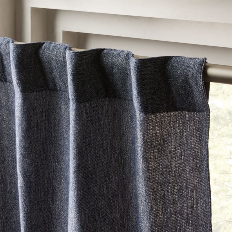 Weekendr Blue Chambray Curtain Panel