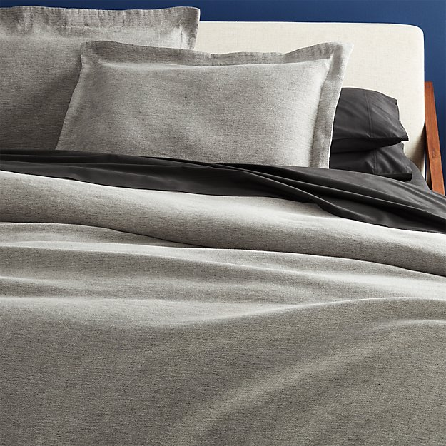 weekendr graphite chambray full queen duvet cover reviews cb2