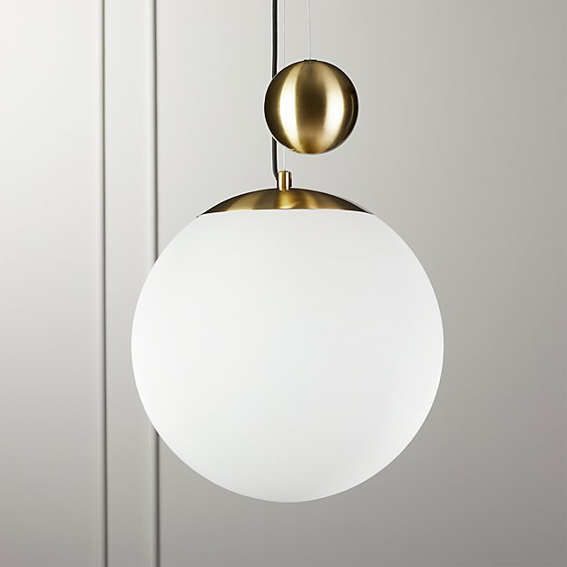 Weight Pulley Pendant Light Large Reviews Cb2