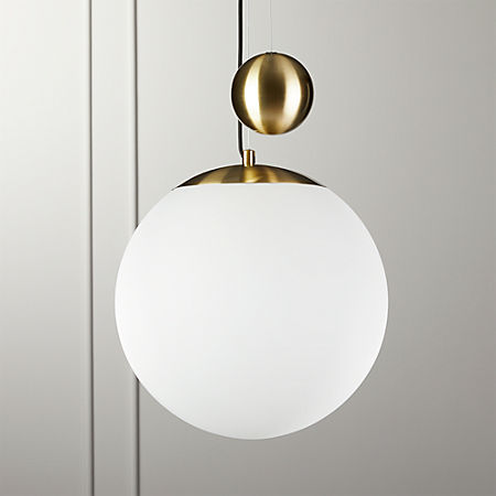 Weight Pulley Pendant Light Large + Reviews | CB2