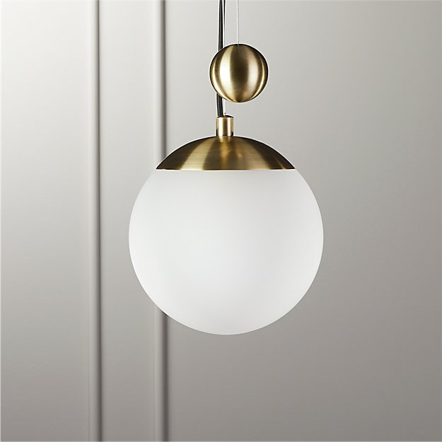 Weight Pulley Pendant Light Small Reviews Cb2