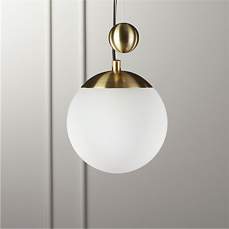 Weight Pulley Pendant Light Small