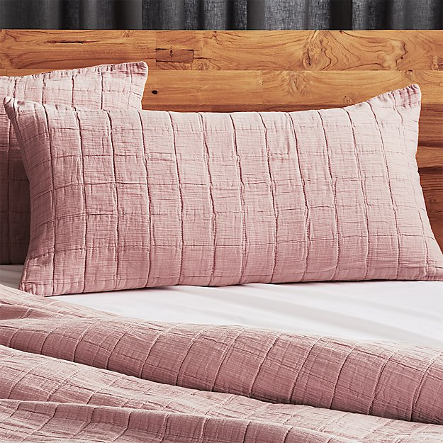 Wendell Dusty Pink Quilted King Sham Set of 2 - Image 1 of 3
