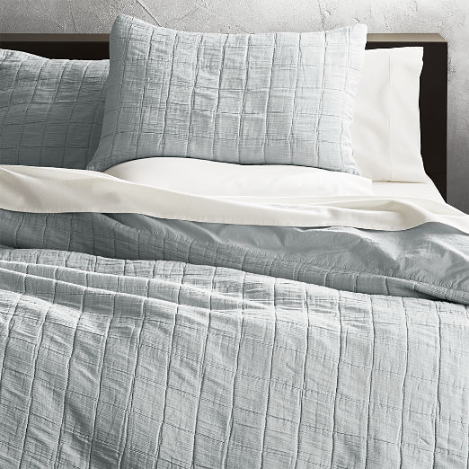 Wendell Silver Quilted King Shams Set of 2