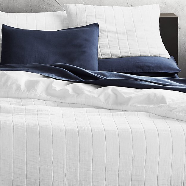 Wendell White Quilted King Duvet Cover Reviews Cb2