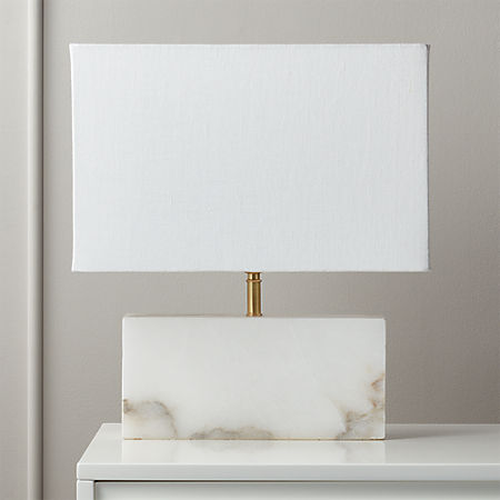 White Alabaster Rectangle Table Lamp Reviews Cb2 Canada,How To Design An Office At Home