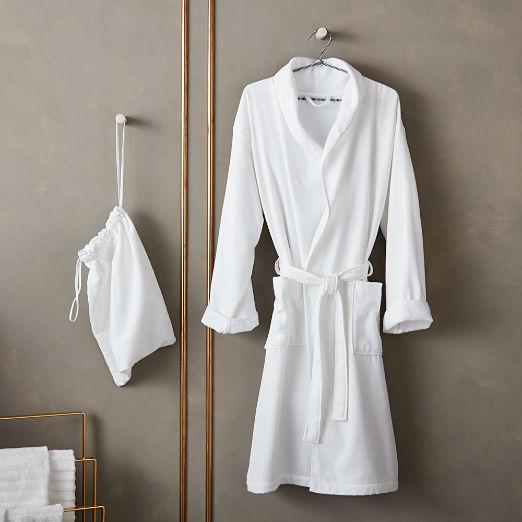 White Bath Robe with Bag