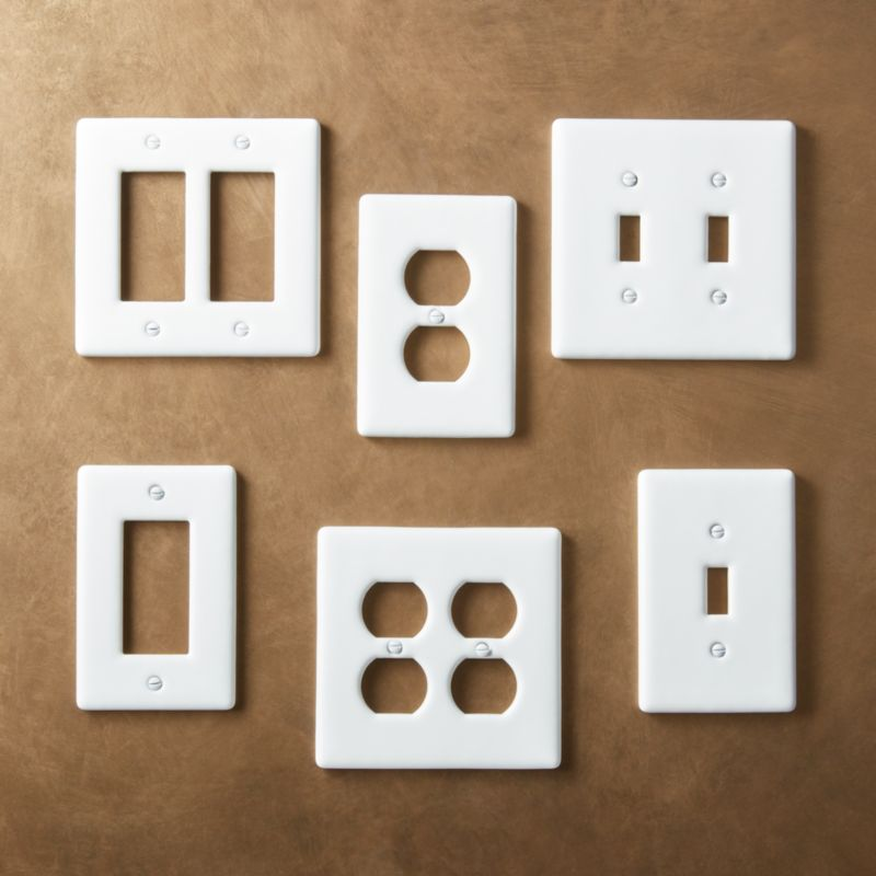 White Ceramic Wall Plates Cb2