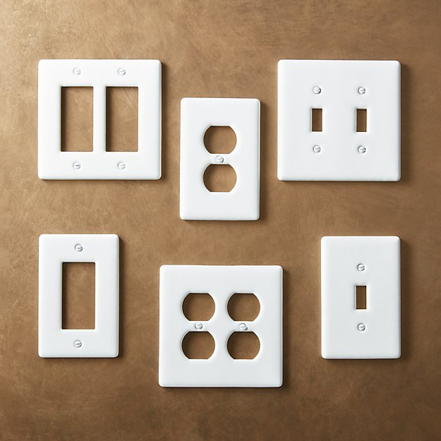 White Ceramic Wall Plates Cb2