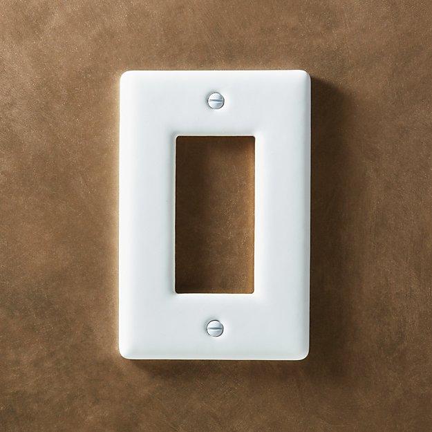 White Ceramic Single Gfci Plate Reviews Cb2