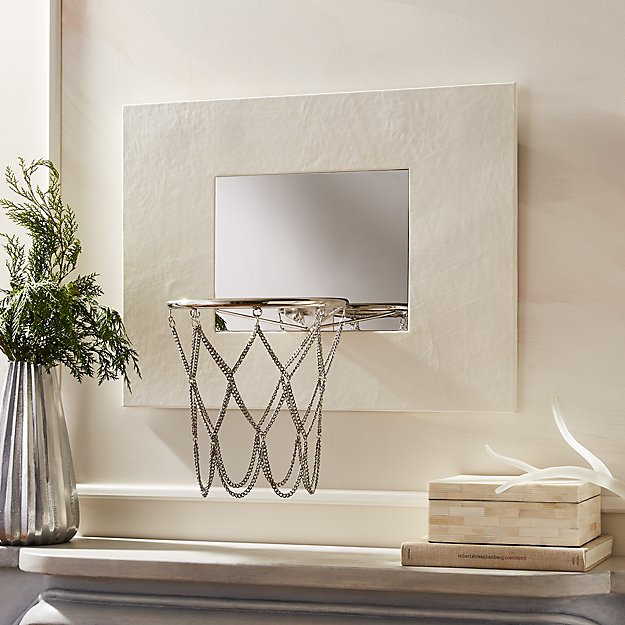 White Leather Basketball Hoop - Image 1 of 8