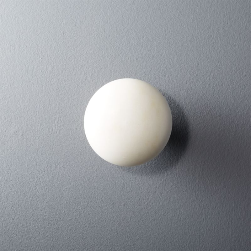 Buy Ferm Living Stone Hook White Marble & Brass - Small ... |Marble Wall Hooks