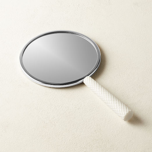 White Marble Hand Mirror