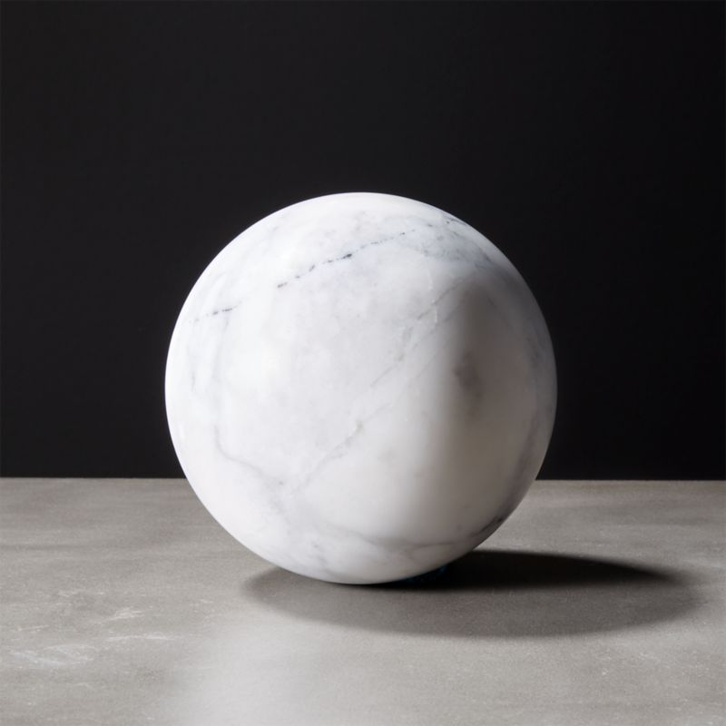 White Marble Sphere Reviews Cb2