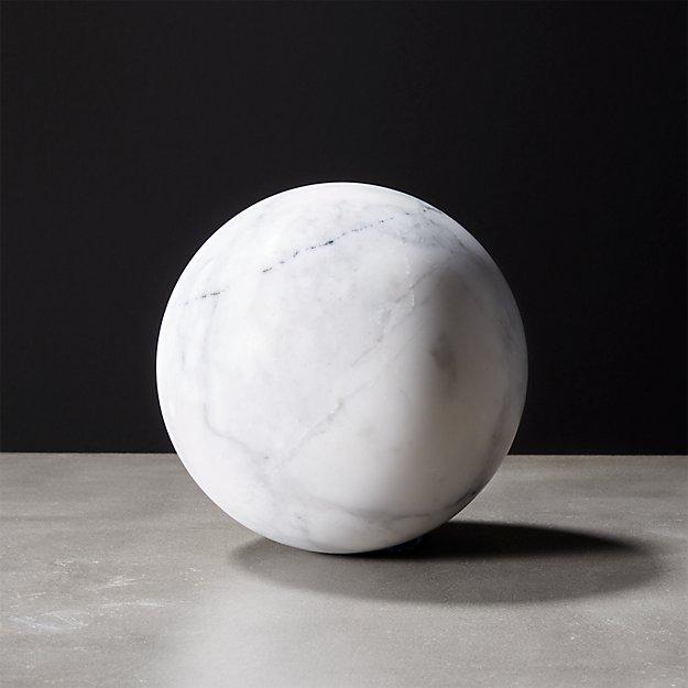 White Marble Sphere Reviews Cb2