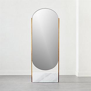 White Marble Base Free Standing Mirror