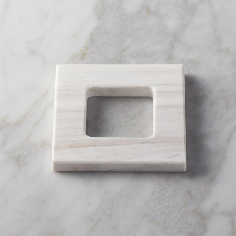 Charmant White Marble Tissue Square