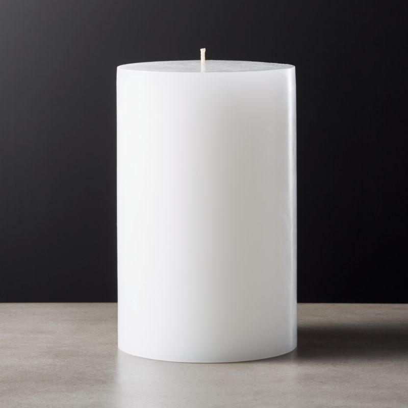 White Pillar Candle 4x6 Reviews Cb2