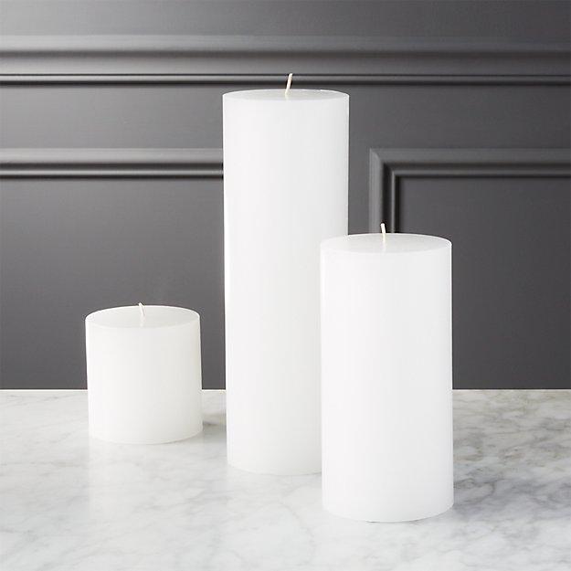 White Pillar Candles - Image 1 of 7