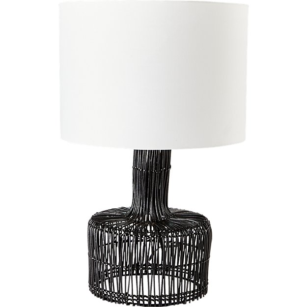 Wicker Black Table Lamp - Image 5 of 7