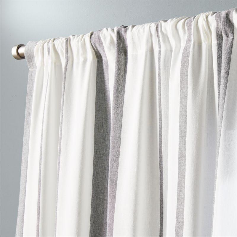 Striped Curtain Panels   CB2