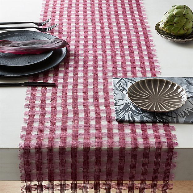 Willow Checkered Table Runner - Image 1 of 3