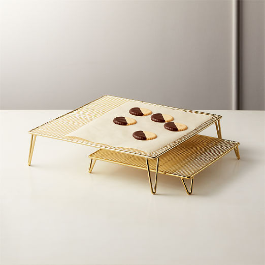 Modern Serving Trays And Stands Cb2