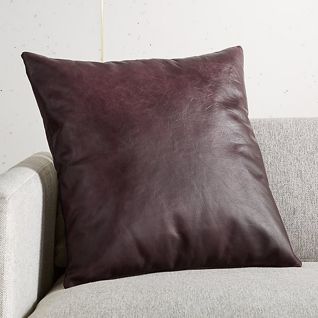 """18"""" Winston Leather Wine Pillow - Image 1 of 5"""
