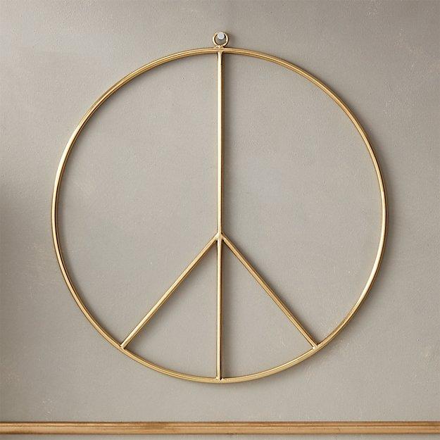 816950ed6da7 Brushed Brass Wire Peace Wreath + Reviews
