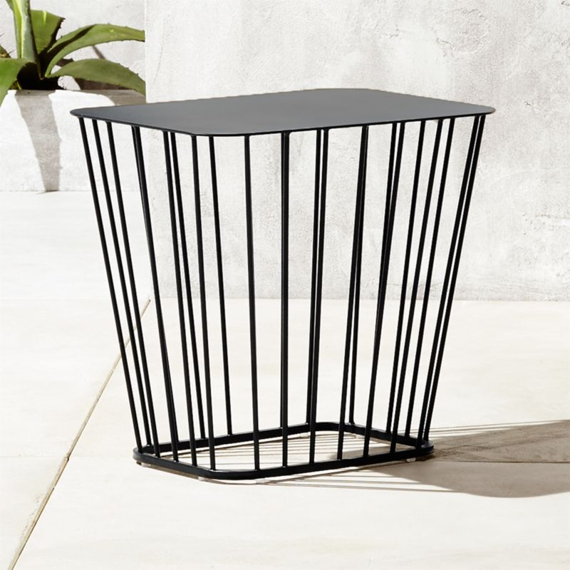 Merveilleux Modern Black End Tables | CB2