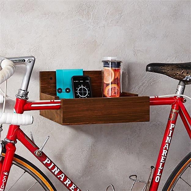 & wood bike storage + Reviews | CB2