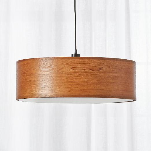 Wood Veneer Pendant Light