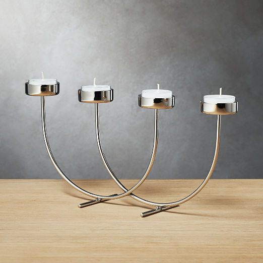 Wren Stainless Steel Multi Tea Light Candle Holder