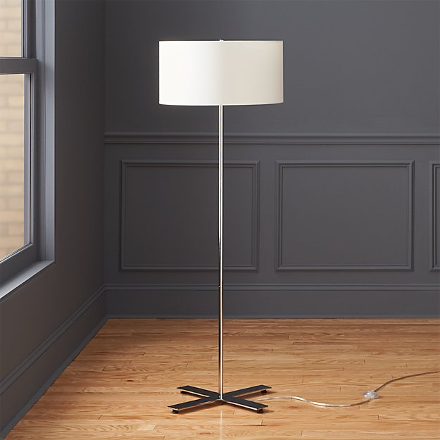 X Base Chrome Floor Lamp Reviews Cb2
