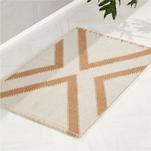 X Base Khaki Bath Mat
