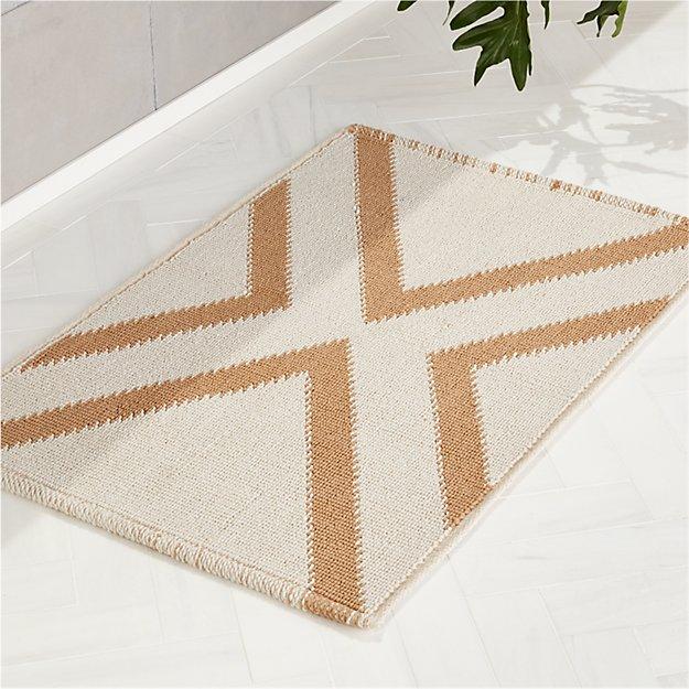 X Base Khaki Bath Mat - Image 1 of 4