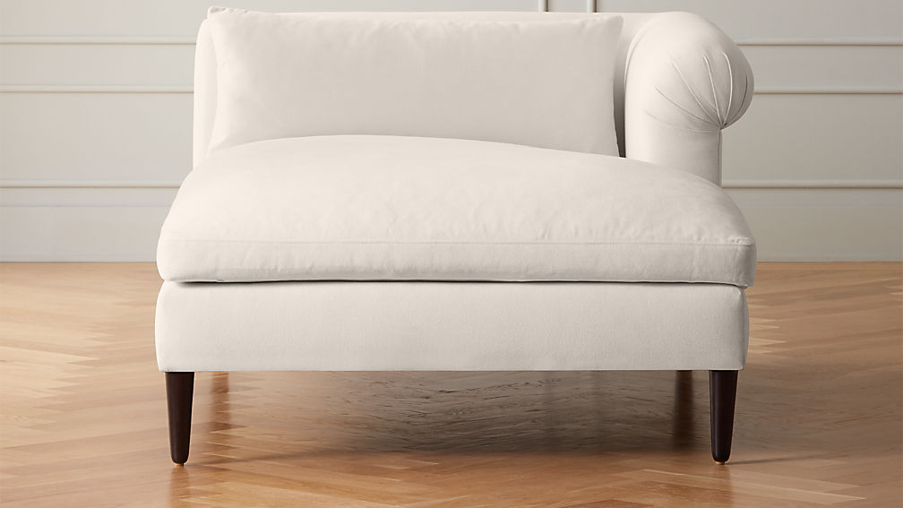 York Frost Right Arm Wide Chaise Lounge - Image 1 of 5